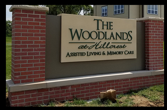 woodlands monument sign